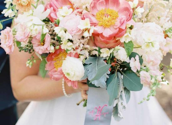 Bright Pink and Turquoise Wedding at Roaring Fork Club