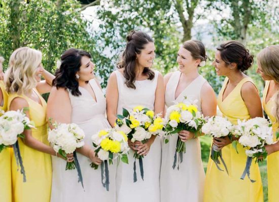 Springtime Colorado Wedding <br> with pops of Yellow