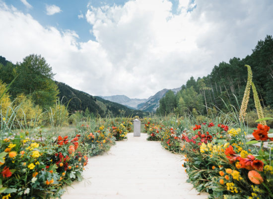 Saturated Hues for this Colorado Estate Wedding