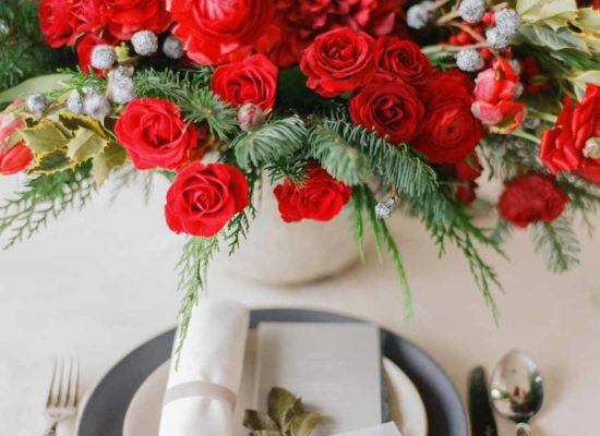 Chic Red Holiday Entertaining Inspiration