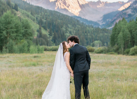 Aspen Mountain Top Wedding <br>with Fern Details