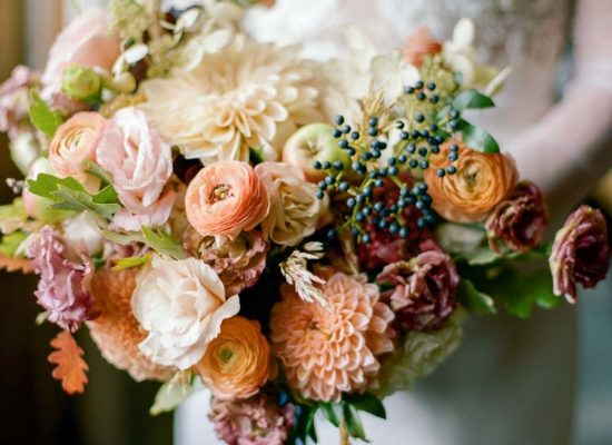 Peach, Rust and Navy Fall Wedding <br> at The Little Nell
