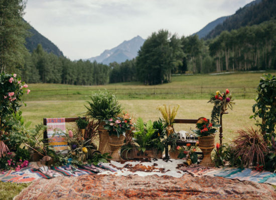 Eclectic Bohemian Wedding at T Lazy 7 Ranch