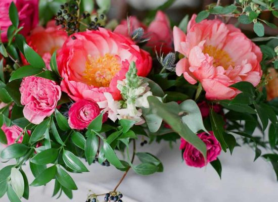 Peony Filled Wedding at Roaring Fork Club