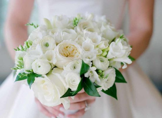 Lush Green and White Wedding <br> at The Little Nell