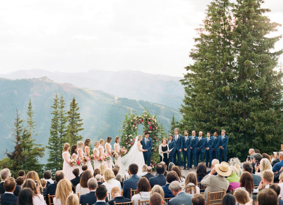 A Pretty Pink Wedding Atop Aspen Mountain